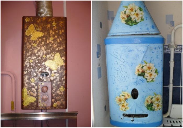 Даже старому газовому оборудованию можно придать оригинальный вид. | Фото: makemone.ru.