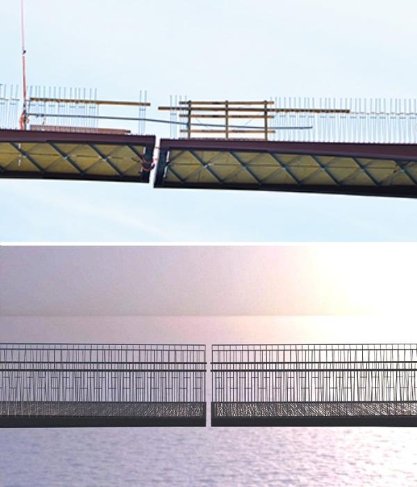 Зазор шириной 4 см позволяет сооружению без последствий расширяться и сжиматься при изменениях температуры (Cornwall, Великобритания). | Фото: tintagelweb.co.uk.