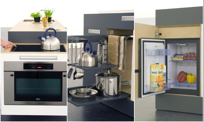 С такой кухней-трансформером даже в самом крошечном доме всегда будет порядок и вкусный ужин. | Фото: psk35.ru.