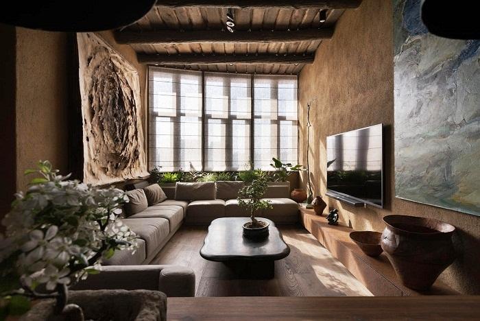 Невероятное сочетания японской и украинской культуры (Wabi Sabi Apartment).
