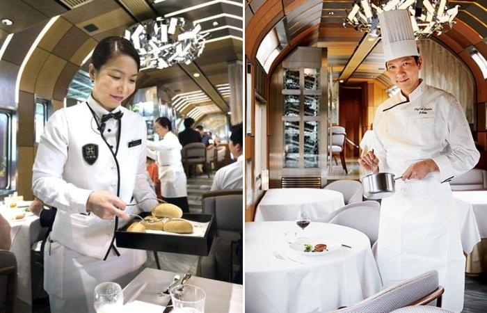 Повара и официанты элитного поезда Shiki-Shima исполнят любой гастрономический каприз клиента. | Фото: travel.watch.impress.co.jp.