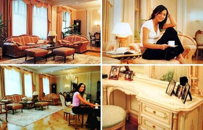 Интерьер родительской квартиры выдержан в роскошно-классическом стиле. | Фото: homefamily.rin.ru.