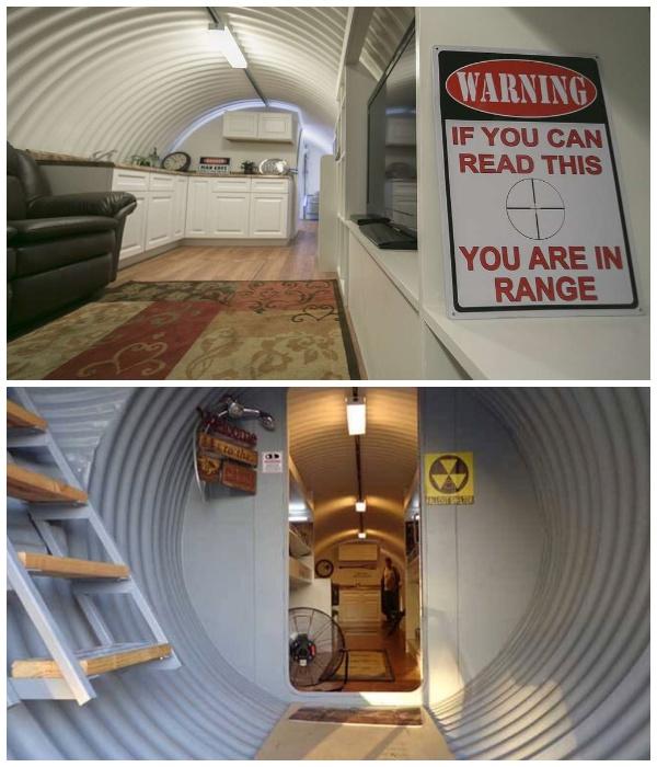 В гофрированном бункере-трубе можно ненадолго укрыться от большинства наземных катастроф (Бомбоубежище Atlas).