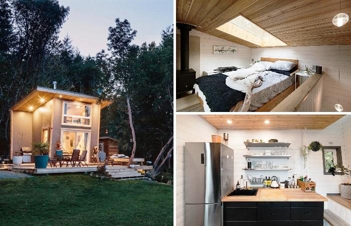 Крошеный домик, расположенный у побережья пролива Джорджия станет идеальным местом для медового месяца и  загородного отдыха (Galiano 100, Канада). | Фото: player.hu.