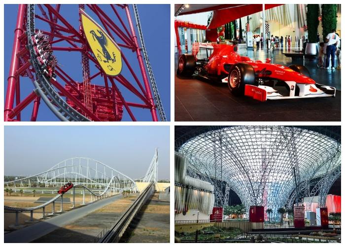 Посетителей парка Ferrari World ждут самые удивительные и экстремальные развлечения (Абу-Даби, ОАЭ).
