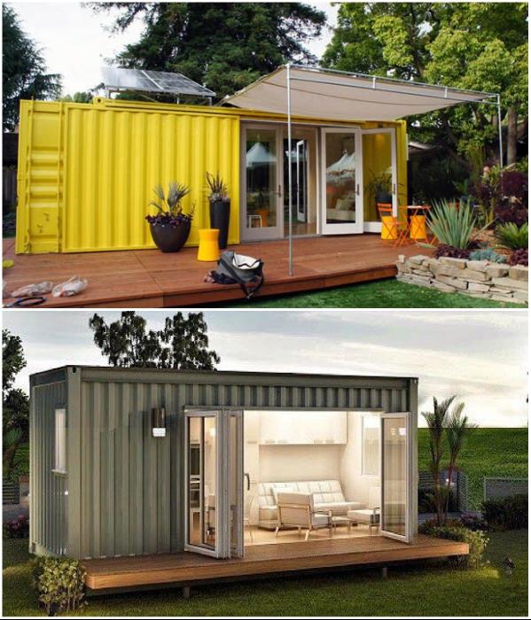 Дом из одного контейнера – самый бюджетный, компактный и экологичный вариант. | Фото: bptkprogress.ru/ pikabu.ru.