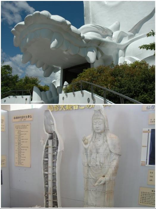 Пасть дракона является входом в культурно-религиозный центр и храм бодхисатвы Каннон (Сэндай, Япония). | Фото: masterok.livejournal.com.