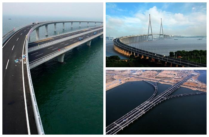 Циндаоский мост занесен в Книгу рекордов Гиннеса (Китай).