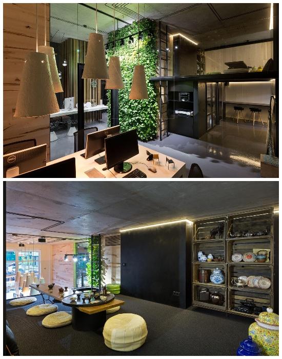 Удивительный интерьер офиса больше похож на галерею (Sergey Makhno Architects, Киев).