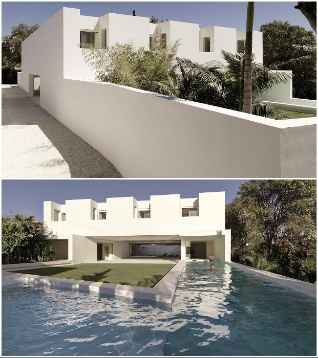 Вилла Los Limoneros в пригороде Марбельи окружена прекрасным садом и панорамным бассейном (Испания).