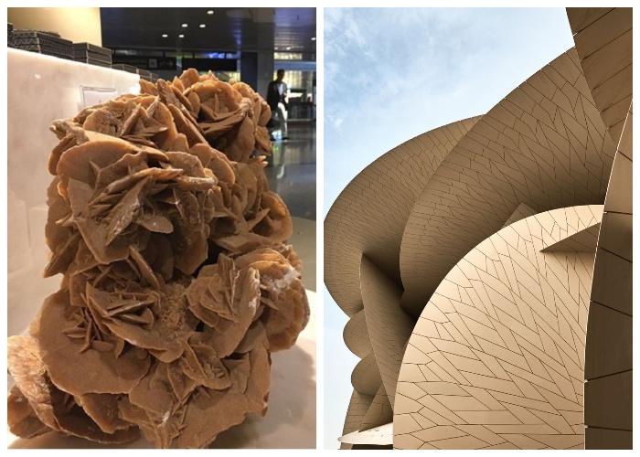 Жан Нувель в архитектурном проекте Национального музея пытался воссоздать необычную конфигурацию «розы песков». | Фото: elledecor.com.