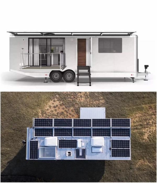 Жилой автомобильный кемпер LV 2020 – это роскошная энергонезависимая квартира в алюминиевом корпусе и с мощными солнечными батареями. | Фото: mymodernmet.com.