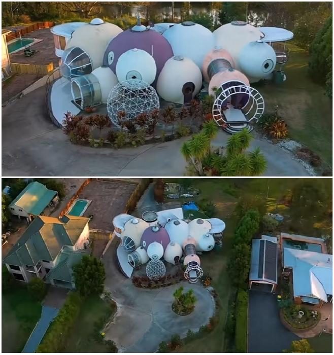 Легендарный «Пузырьковый дом», созданный по чертежам марсохода НАСА, выставлен на продажу. | Фото: youtube.com/ © First National Real Estate Action Realty Ipswich.