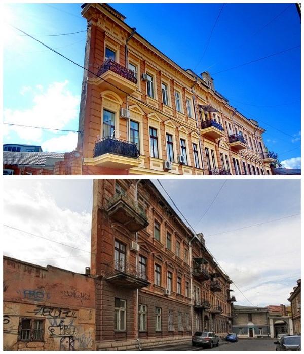 «Ведьмин дом» в Воронцовском переулке Одессы имеет ширину узкого торца всего лишь 1 метр (Украина).