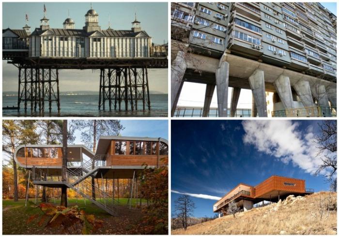 Древняя технология строительства на сваях до сих пор актуальна. | Фото: fishki.net.