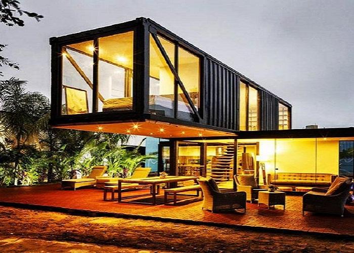 Необыкновенный проект дома из двух контейнеров.