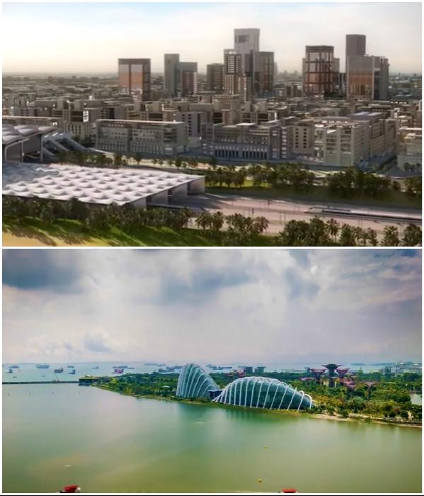 Городская застройка будет тесно переплетаться с зелеными зонами (NEOM). | Фото: youtube.com/ © ArchDaily.