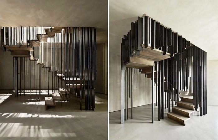 Эта лестница может быть изящным арт-объектом (Проект Storage associati). | Фото: mymodernmet.com.
