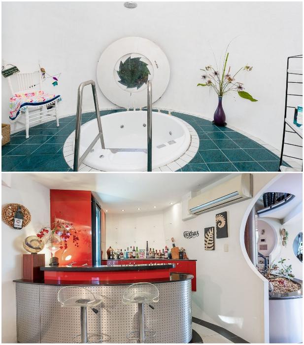 В космическом доме есть джакузи и собственный бар («Bubble House», Австралия). | Фото: newatlas.com.