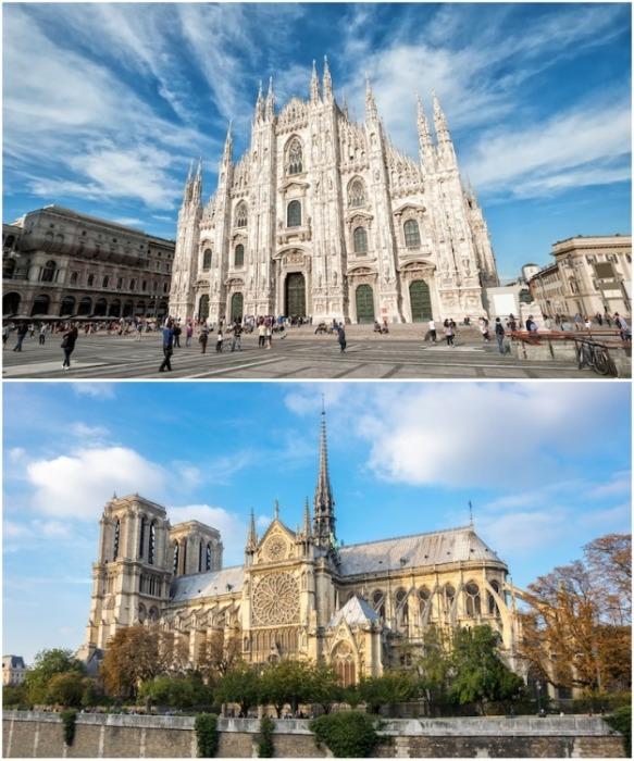 Комбинация остроконечной арки и ребристого свода позволила создать исключительную вертикальность в готической архитектуре. | Фото: mymodernmet.com.