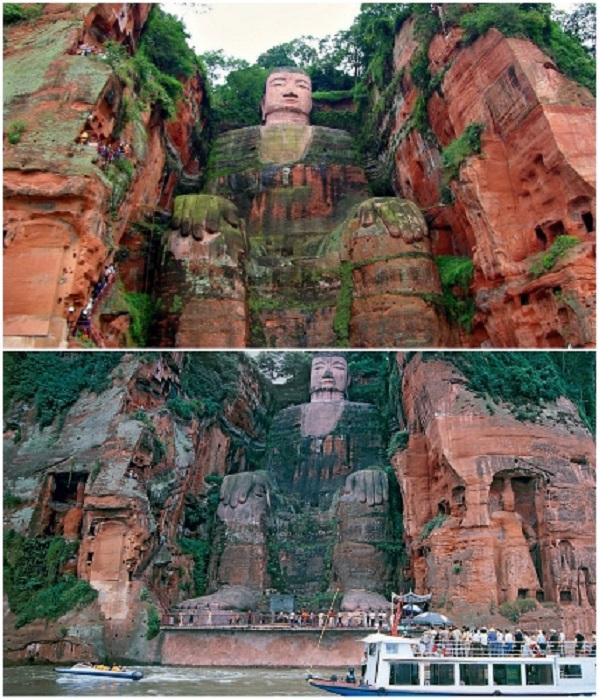 Статуя Будды – место паломничества буддистов и путешествующих (Эмэйшань, Китай). | Фото: worldme.ru/ barbadosband.com.