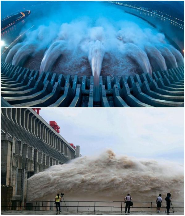 Самая большая в мире гидроэлектростанция «Три ущелья» протянулась на 2,3 км в длину и поднялась на 185 м. высоту (Китай). | Фото: alternativenergia.hu/ novate.ru.