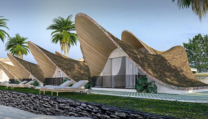 Резиденции отеля будут напоминать морских моллюсков, которые называют «нефритом моря» (концепт Bihing Tahik Resort). | Фото: esquiremag.ph.
