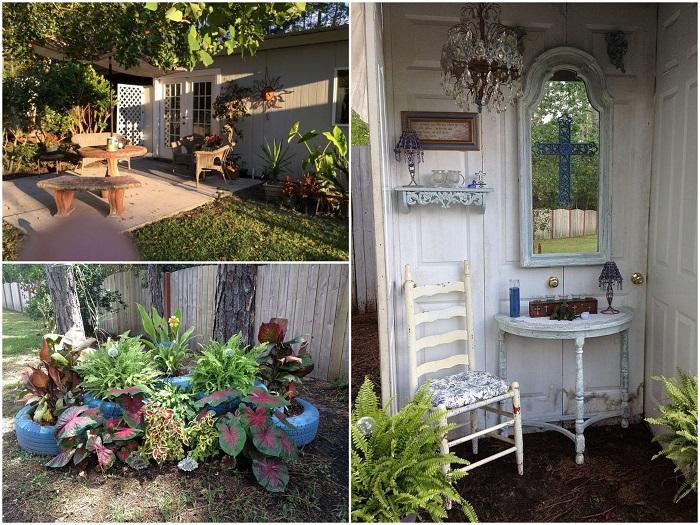 Внутренний дворик оформлен с не меньшим мастерством и любовью. | Фото: lemurov.net/ humoras.net, © Debbi W.