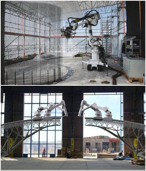 Строительные роботы способны возводить объекты без участия человека. | Фото: dailytechinfo.org/ interestingengineering.com.