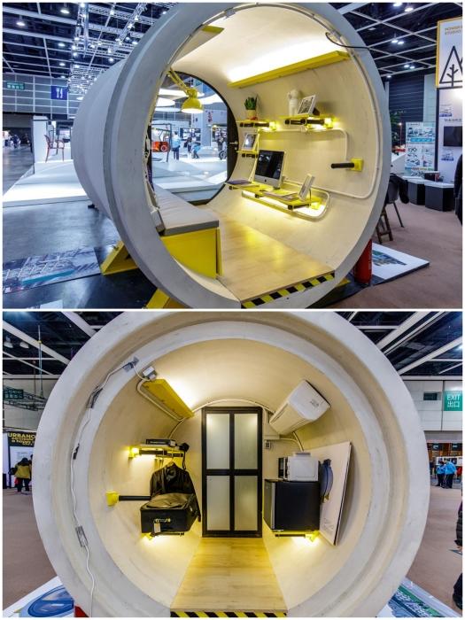 Стандартный микродом будет состоять из двух частей (OPod Tube House, Гонконг). | Фото: bbc.com/ journal.homemania.ru.