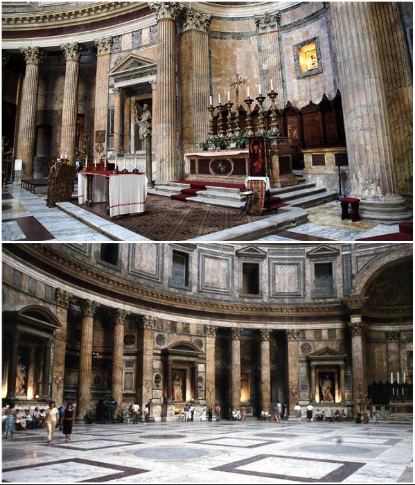 Большая часть мрамора, который активно применялся для внутренней отделки храма, сохранилась в неизменном виде и в идеальном состоянии. | Фото: wowitaly.ru/ italia-ru.com.
