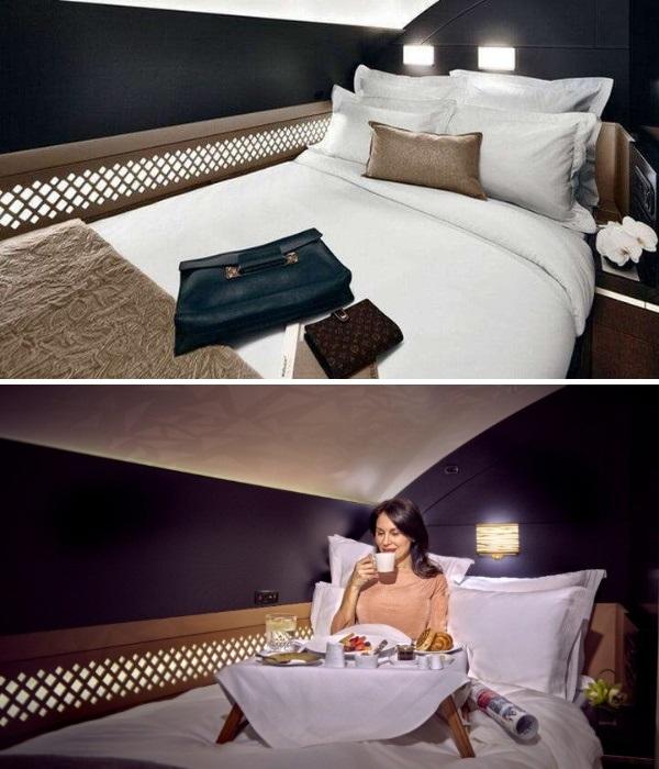 В «Резиденции» есть собственная спальня (аэробус А-380). | Фото: yana.kiev.ua/ etihad.com.