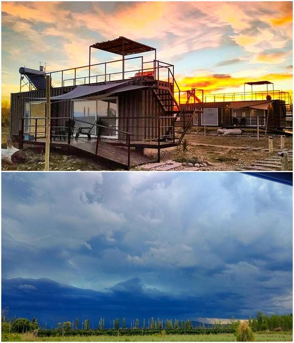 Эко-гостиницу «CasArtero Eco Posada»  из морских контейнеров построили в живописной горной местности неподалеку от Сан-Рафаэль (Аргентина). | Фото: containerhacker.com.