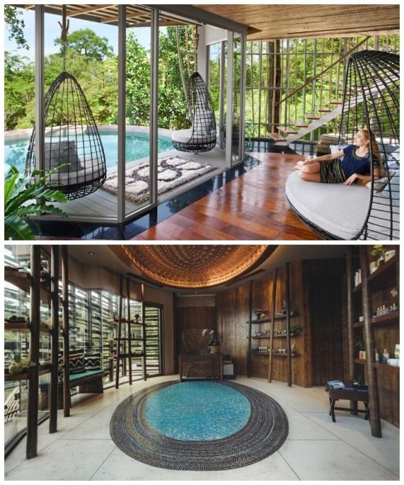 Роскошные номера эко-отеля оборудованы не только бассейнами, каждый из них имеет оригинальные купели. | Фото: nodestinations.com/ kiwicollection.com.