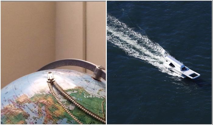 Даже обычная застежка-молния может вдохновить на создание шедевра (инсталляция и яхта Yasuhiro Suzuki).