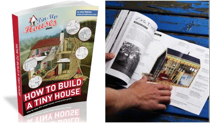 Чертежи с полным описанием всех процессов строительства крошечных домиков от компании Pin-Up Houses может приобрести любой желающий.