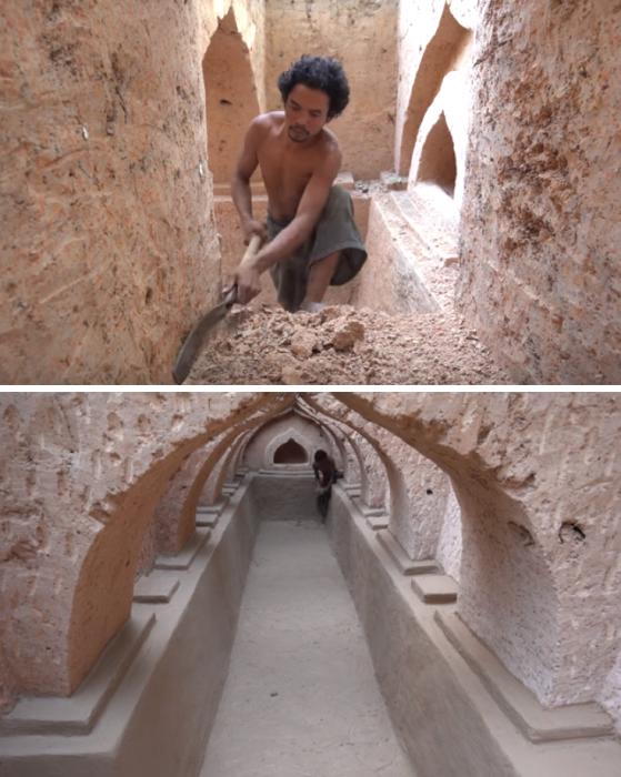 Камбоджийский парень доказал, что, используя древний метод строительства можно собственноручно сделать дом с бассейном. | Фото: youtube.com/ © Jungle Survival.
