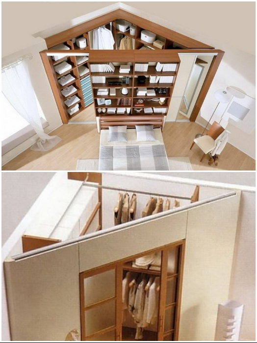 Угловая гардеробная будет более вместительной и практичной. | Фото: gipsokartonpro.ru/ stroy-podskazka.ru.