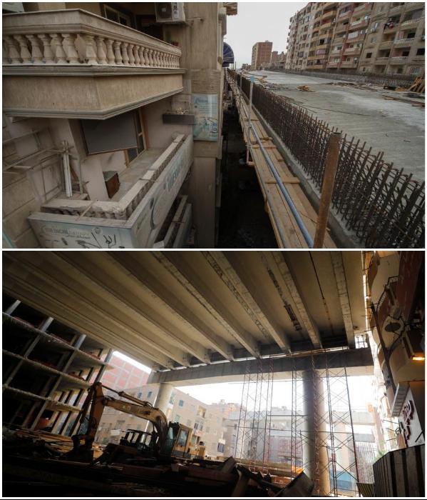 Власти Гизы вот таким образом решили бороться с пробками на дорогах города («Teraet Al-Zomor Bridge», Египет). | Фото: in.news.yahoo.com/ nordkurier.de.