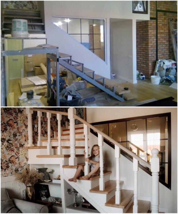 С помощью металлокаркаса удалось организовать второй этаж. | Фото: inmyroom.ru.