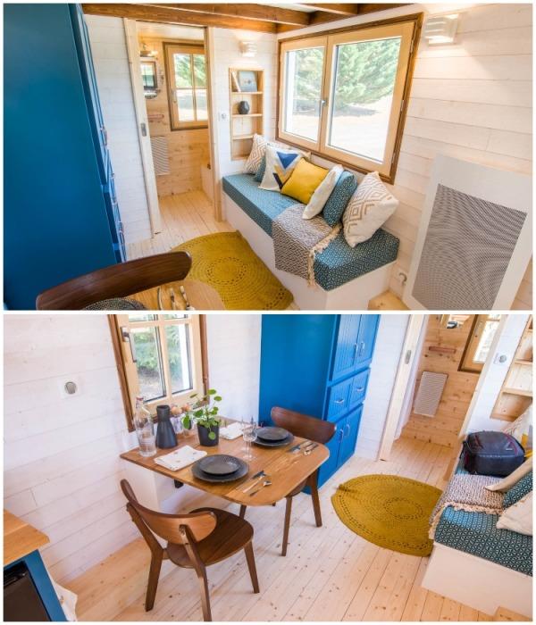 Гостиная может служить зоной отдыха, столовой и рабочим кабинетом (Solaris).   Фото: newatlas.com.