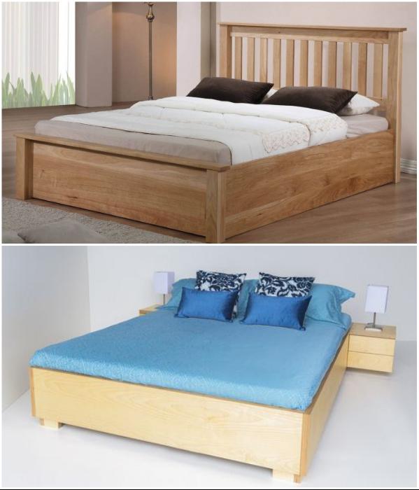 Кровати из мебельного щита (фанеры) получаются прочными, экологичными и оригинальными. | Фото: legkoe-delo.ru/ allbreakingnews.ru.