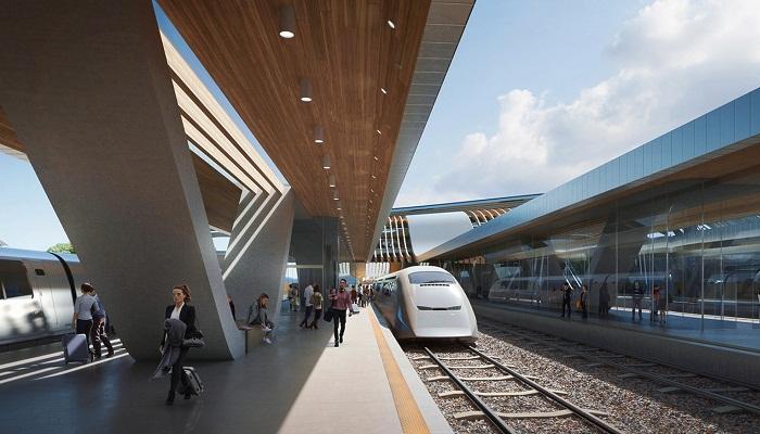 Железнодорожный Балтийский терминал станет отправной точкой магистрали Rail Baltica (Таллин, визуализация). | Фото: zaha-hadid.com.