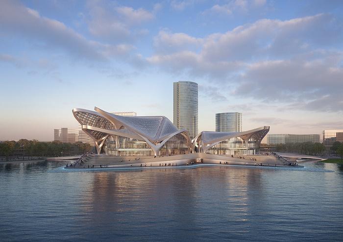 Zhuhai Jinwan Civic Art Centre – задуман как общественный центр современного творчества активно развивающегося региона. | Фото: worldarchitecture.org.