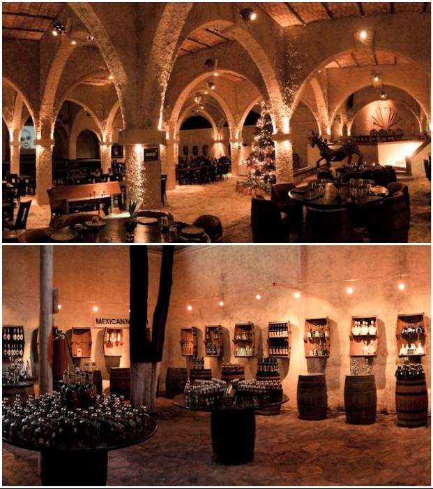 Колоритная подземная таверна предложит вкуснейший обед из традиционных мексиканских блюд («Matices Hotel de Barricas», Мексика).   Фото: tequilacofradia.com.mx.