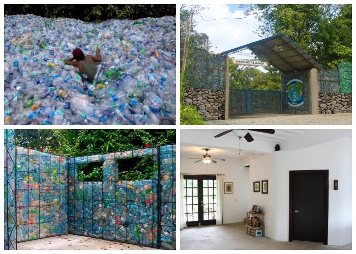 Канадский энтузиаст доказал, что из пластиковых бутылок можно построить целую деревню (о. Бокас-дель-Торо, Панама). | Фото: youtube.com.