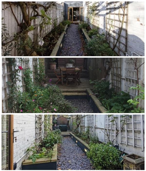 Внутренний дворик служит особой зоной отдыха на свежем воздухе (Slim House, Англия). | Фото: syndyk.by.