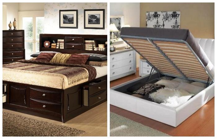 В кроватях и диванах удобно хранить массу нужных и не очень вещей.