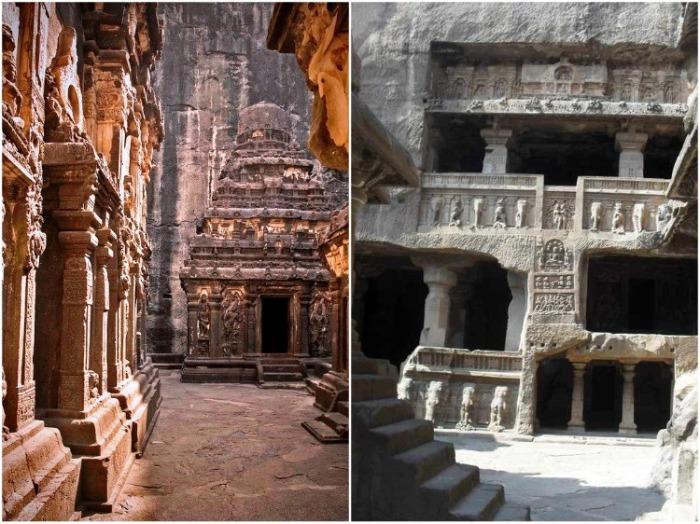 Уникальный храм Кайласанатха создавали более 100 лет (комплекс «Пещеры Эллора», Индия). | Фото: skurlatov.livejournal.com.