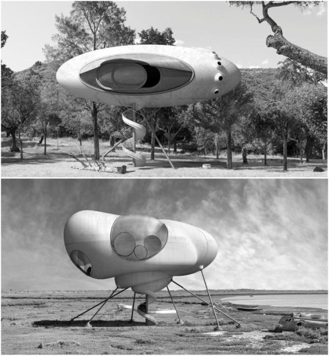 Серия черно-белых визуализаций больше похожа на иллюстрацию к фильму о космических пришельцах (серия «Inter-actions»). | Фото: dionisiogonzalez.es/ Dionisio Gonzalez.